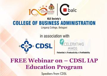 Free Webinar on – CDSL IAP Education Program