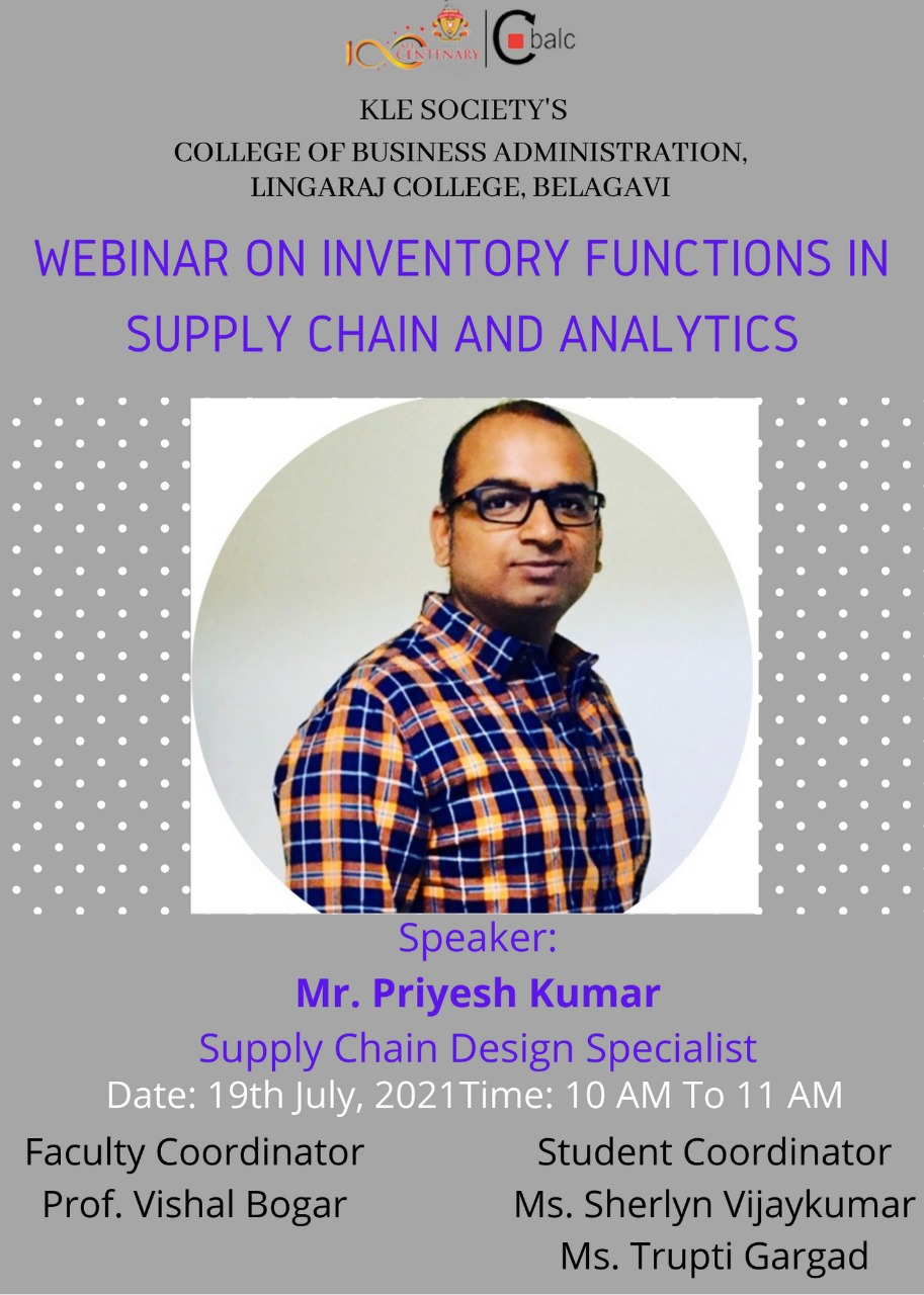 Inventory Functions in Supply Chain and Analytics Webinar