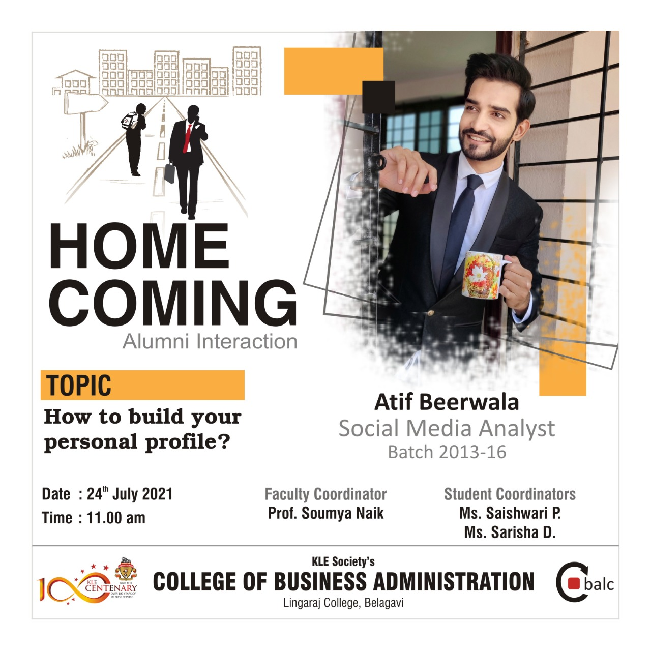 Home Coming Alumni Interaction – How to build your personal profile?